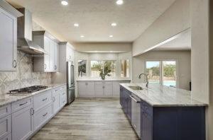 Two Tone Oro Valley Kitchen Remodel; <br> Design by Matt Yaney